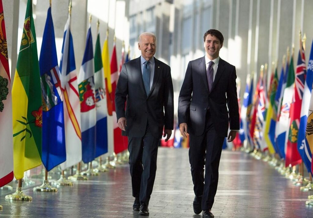 Joe Biden & Justin Trudeau  picture