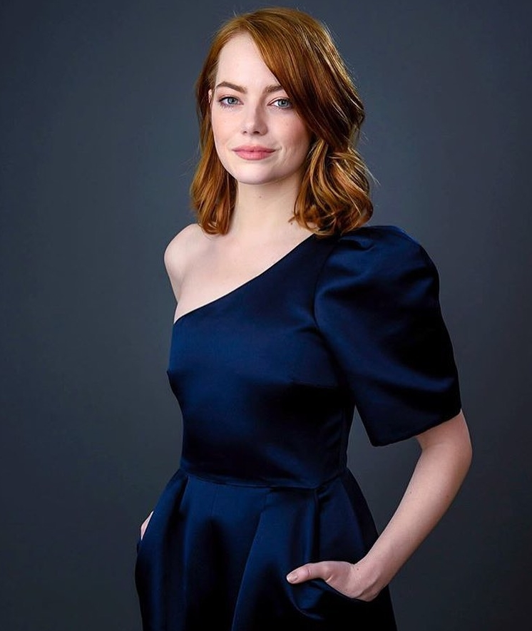 Emma Stone Black Dress image