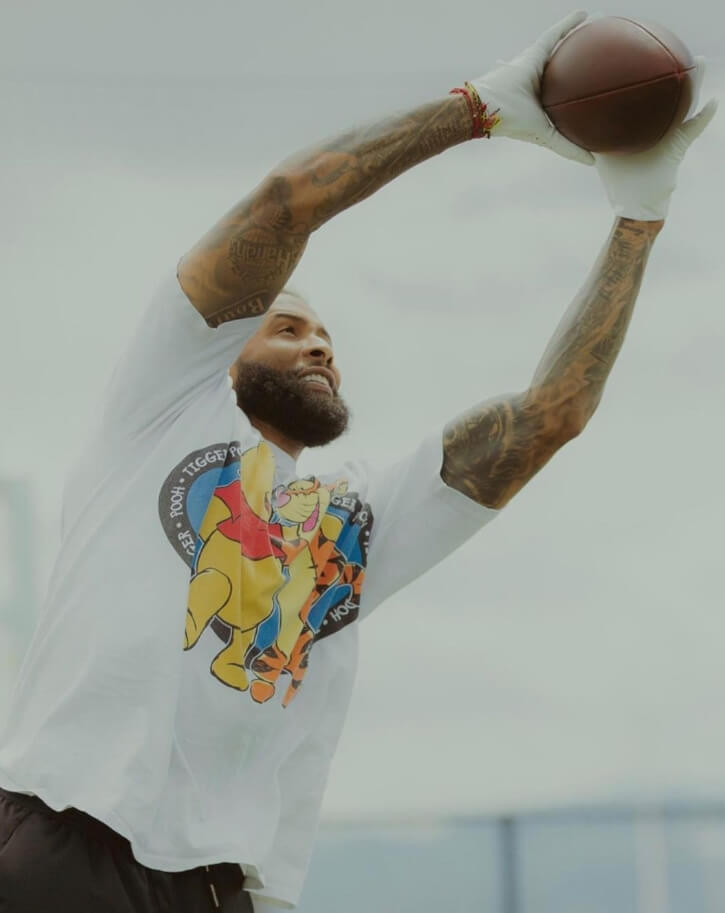 Odell Cornelius Beckham Jr gameing time picture