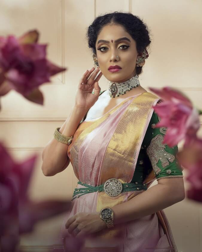 Abhirami Venkatachalam Sharee picture